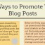 12+ Common and Uncommon Ways to Promote Your Blog