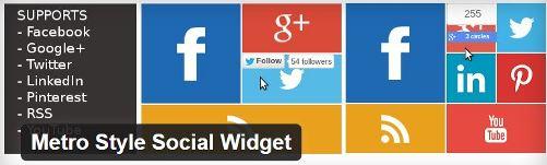 CapturMetro Style Social Widgete