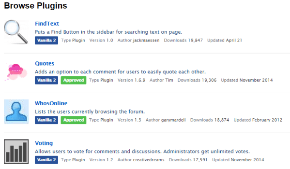 Vanilla Forums Themes Plugins